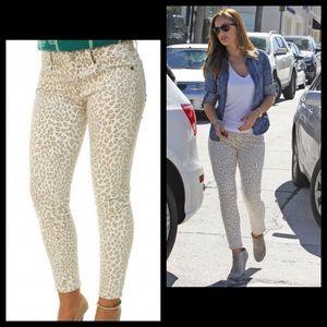 Lucky Brand Leopard Cheetah Skinny Denim Jeans